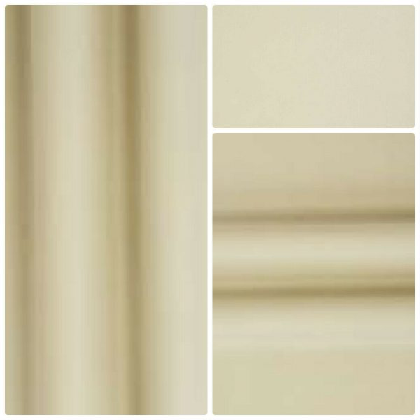 Blackout Thermal Soft Ivory Curtain Lining Fabric Pass 3 - 54 wide