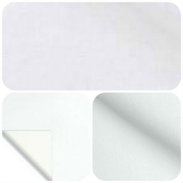 Cotton Sateen White Curtain Lining Fabric