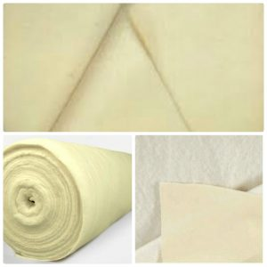 Curtain Bonded Cotton lining & Interlining ivory colour
